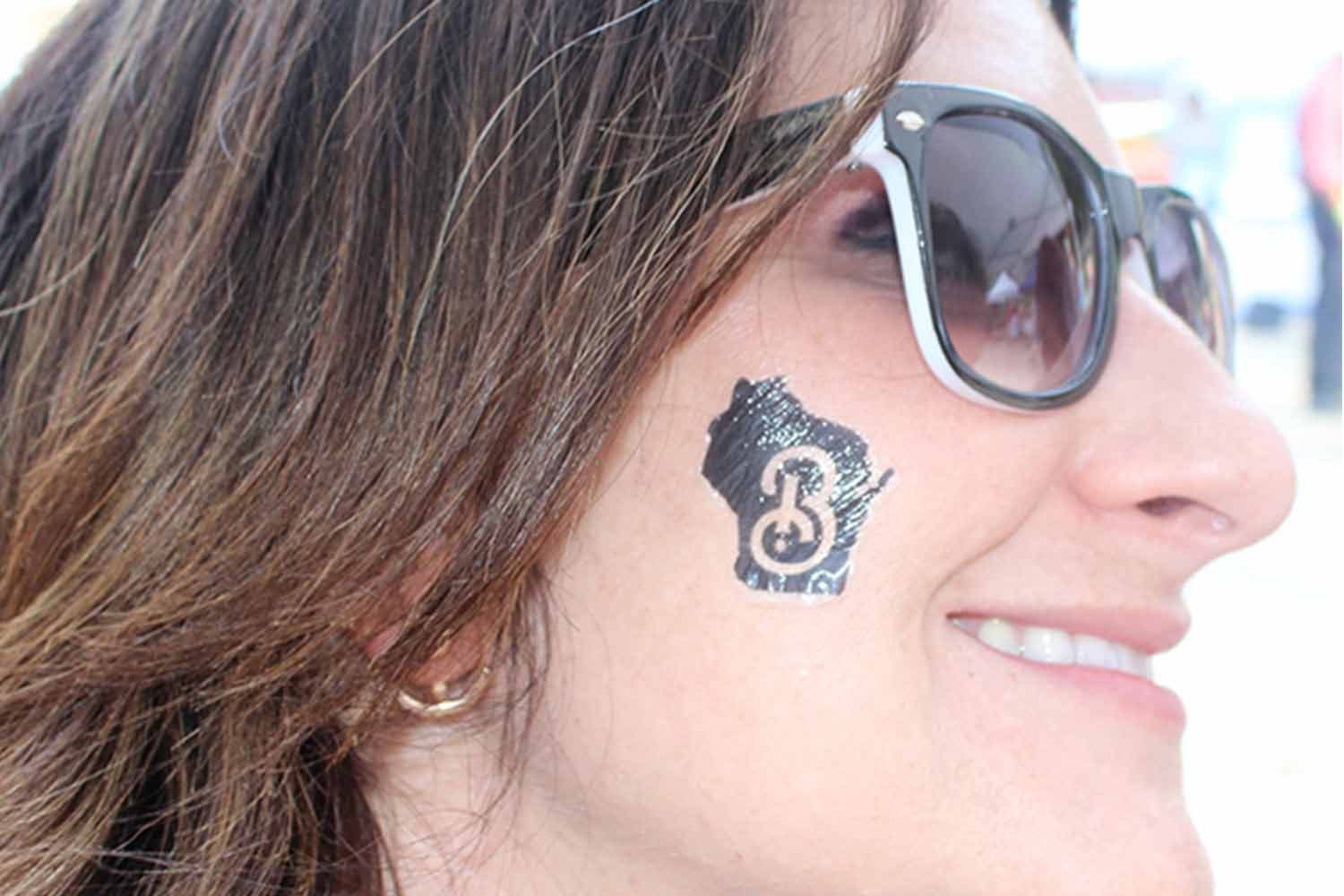 Board President shows off her temporary tattoo