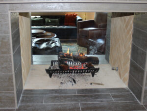 See-through fireplace