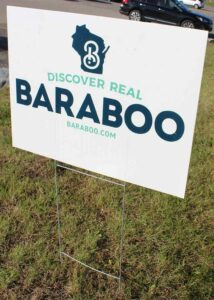 Discover Real Baraboo sign