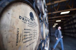 Driftless Glen Distillery barrel