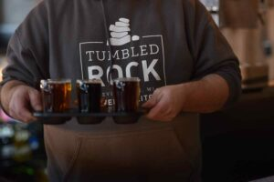Tumbled Rock Brewery beer sampler