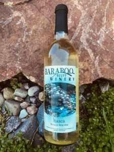 Itasca white wine Baraboo Bluff Winery