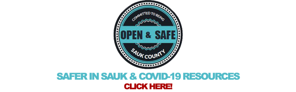 Safer in Sauk County, COVID Resources link.
